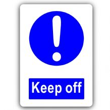 Keep Off-Aluminium Metal Sign-150mmx100mm-Notice,Door,,Light,House,Switch,Business,Energy,Premises